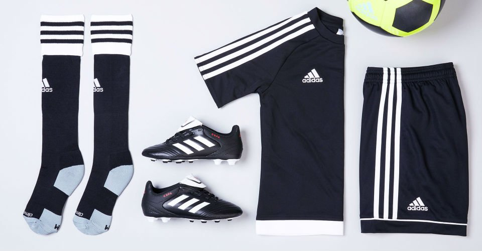 image of adidas soccer shoes and clothing. links to assortment of soccer styles.