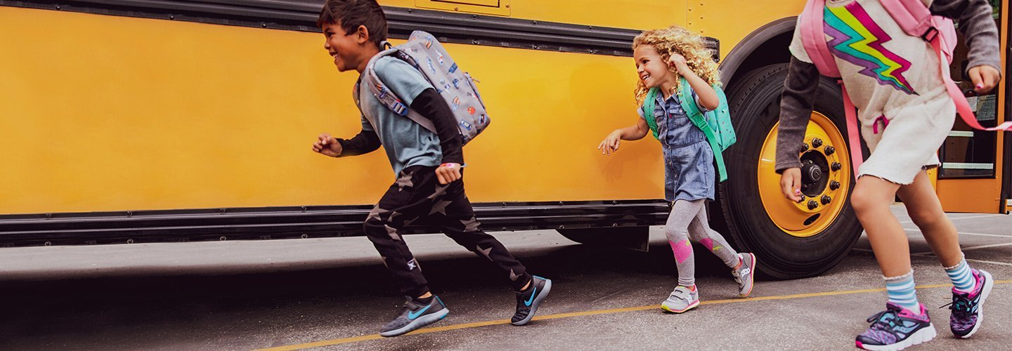 Relive the magic of the first day of school with classic sneakers, backpacks, and clothing!