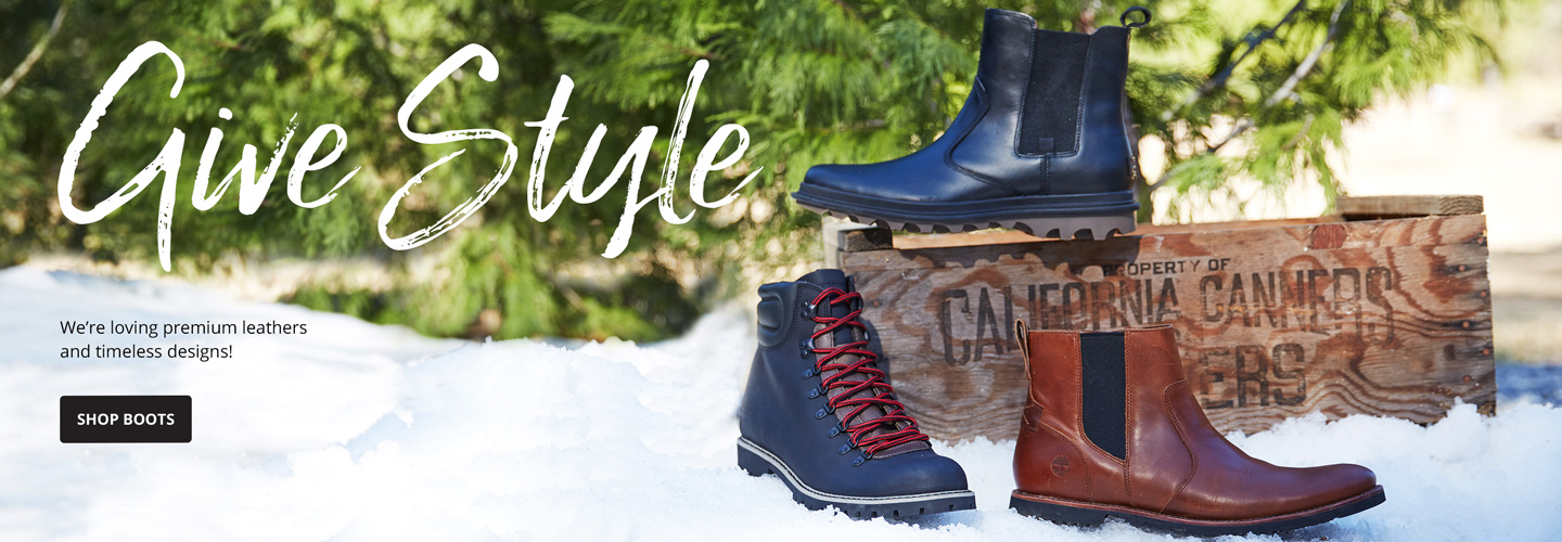 Give Style. We're loving premium leathers and timeless designs! Shop Boots