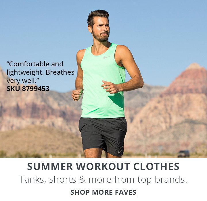 Summer workout clothes.Tanks, shorts and more from top brands. Shop Now.