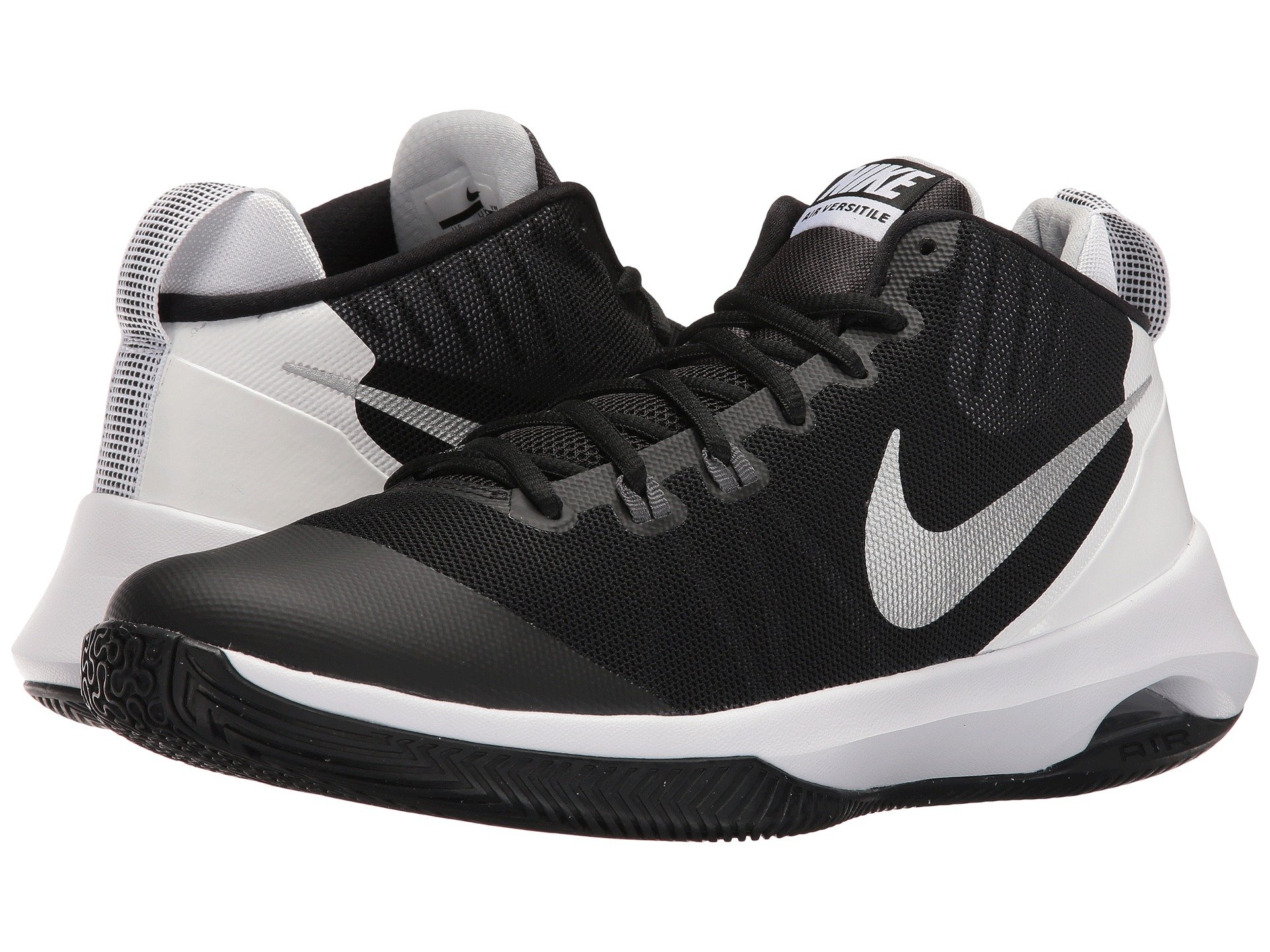 black white nike shoes