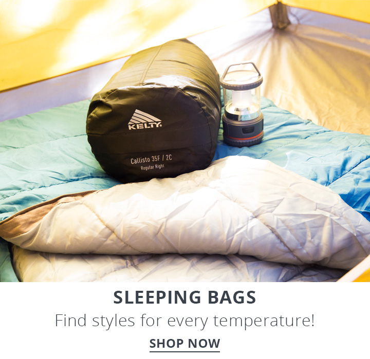 Image of sleeping bag set up inside of a tent