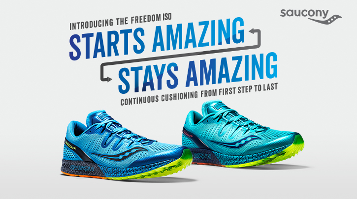blue saucony running shoes