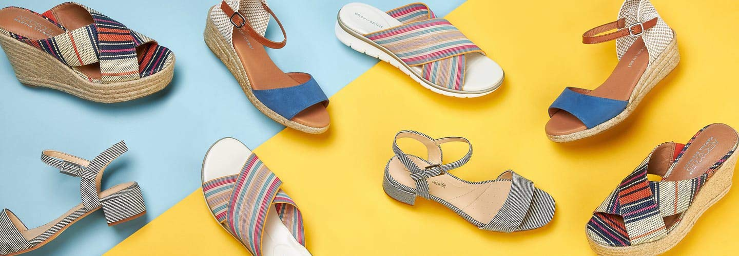 cc62ef6a1 Comfort Sandals: On-Trend Textiles