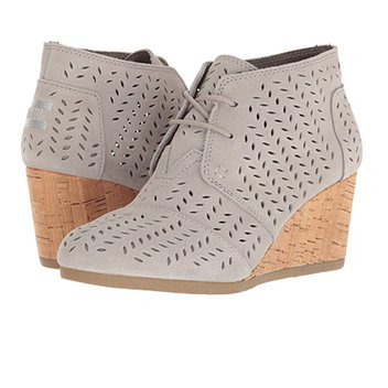 Image of a TOMS desert wedge bootie
