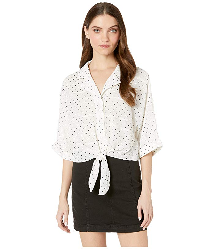 image of polka dot top