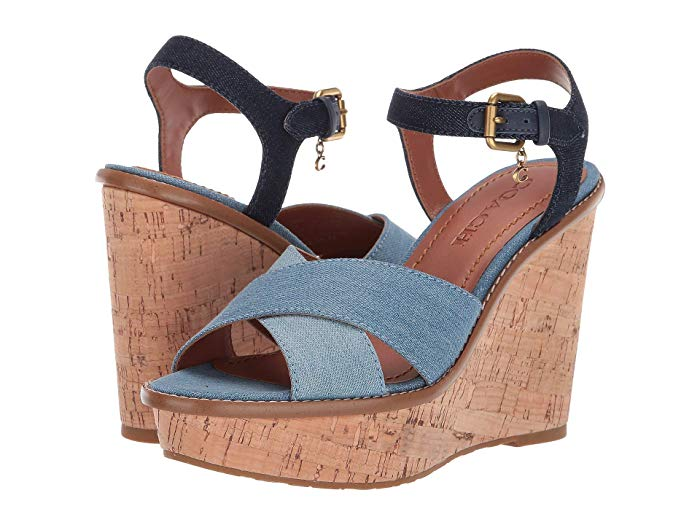 Image of Denim Wedge Heels