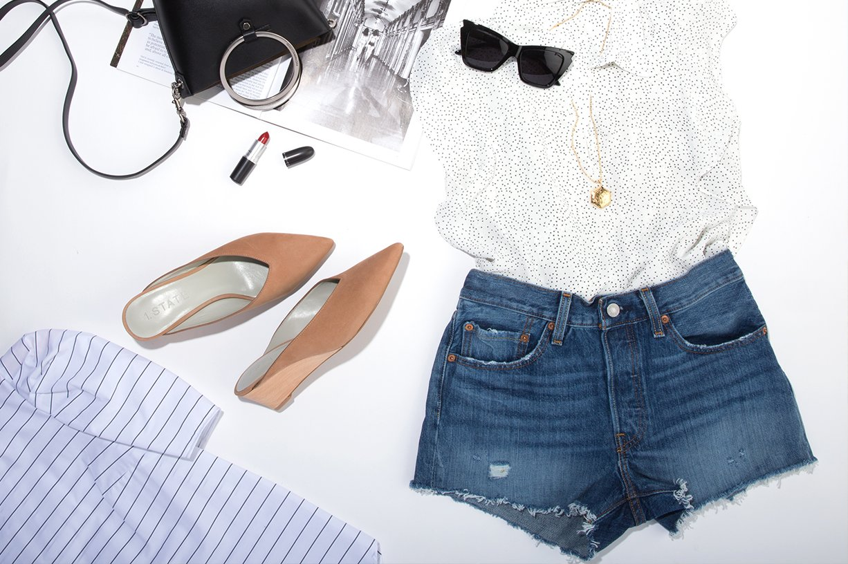 Denim Shorts Outfit Lookbook