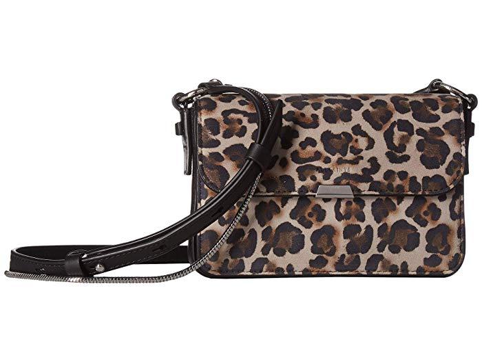 Leopard print crossbody handbag