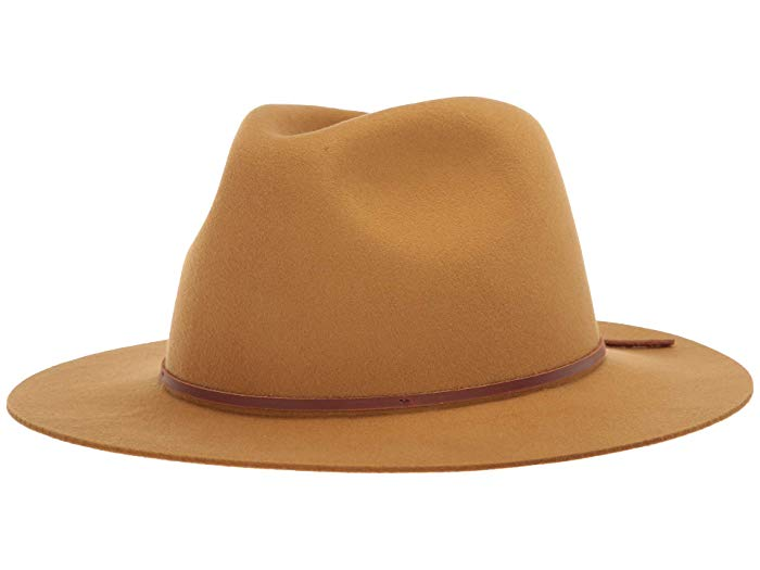 camel colored felt hat