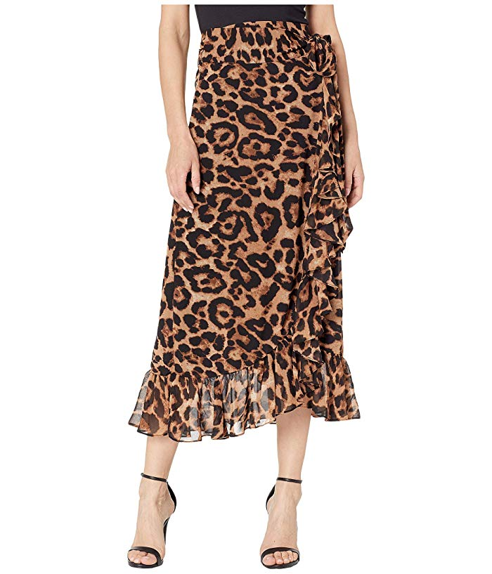image of leopard print skirt