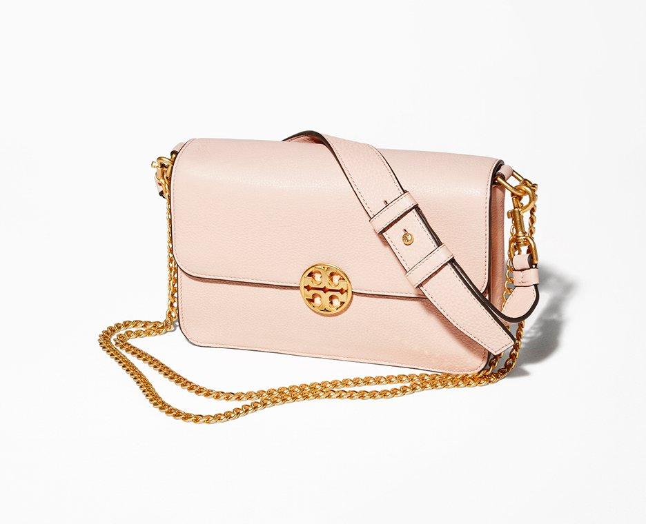 Image of Tory Burch pink handbag.