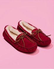 Slippers. Image of red UGG slippers