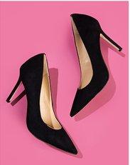 Heels. Image of a black stiletto pump.