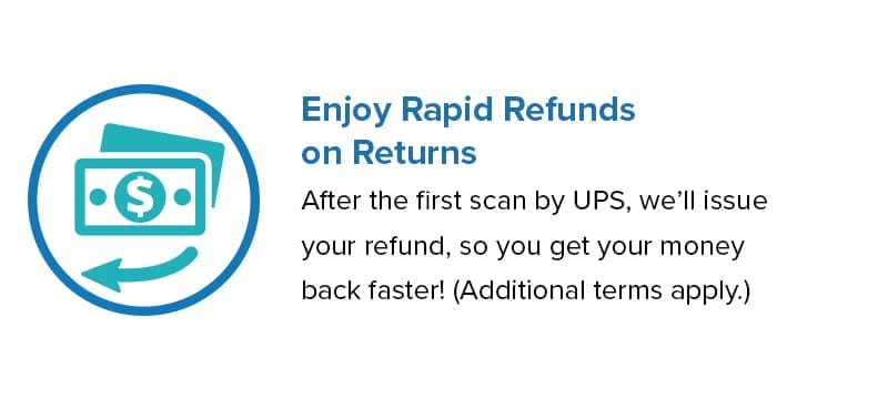 Enjoy Rapid Refunds on Returns
