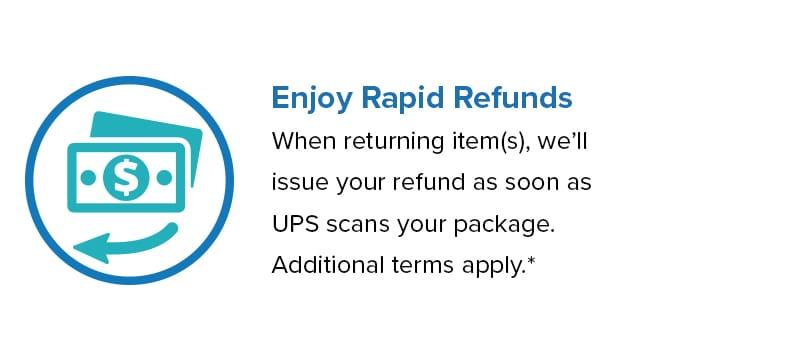 Enjoy Rapid Refunds on Returns