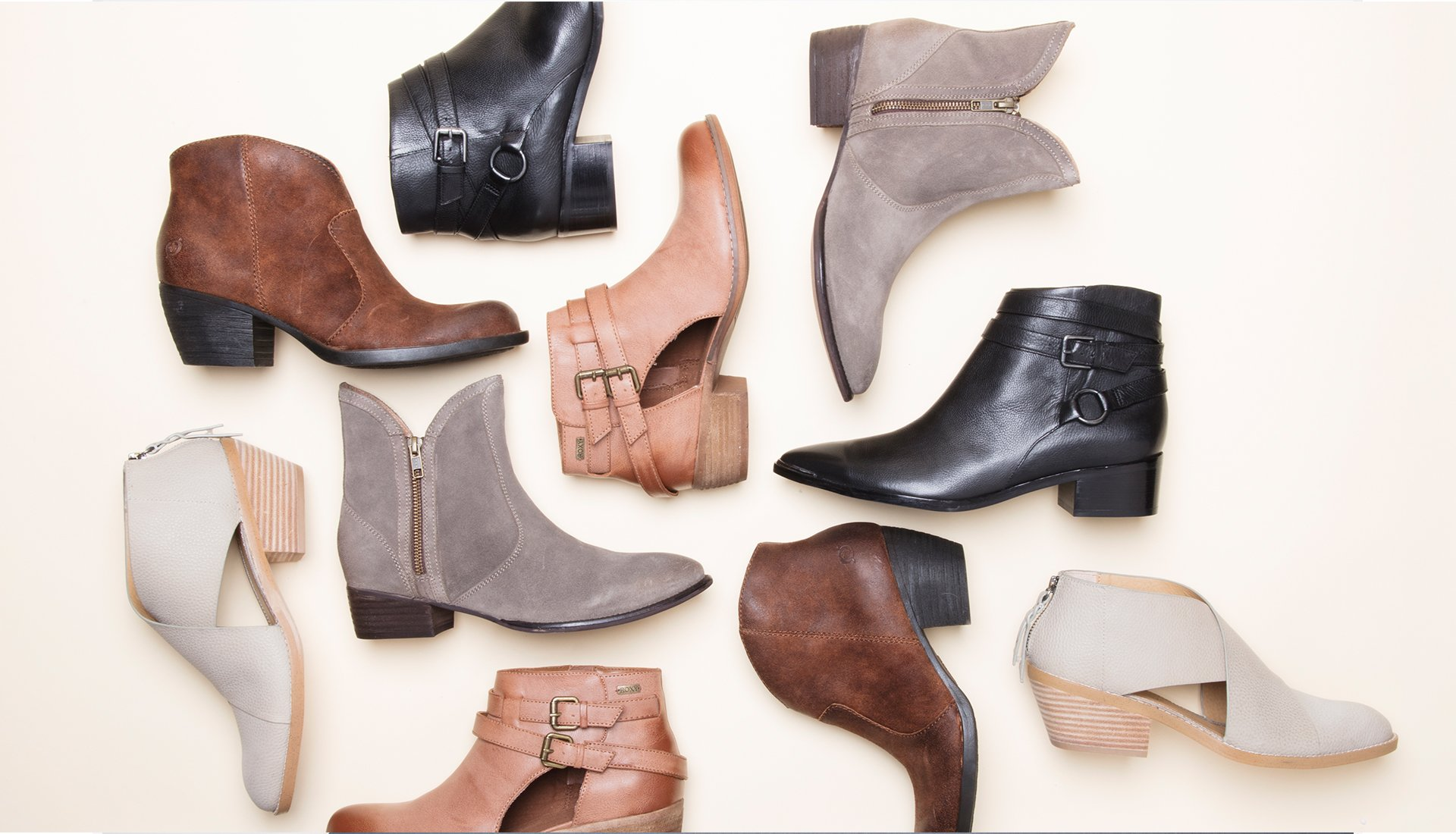 image of many types of boots