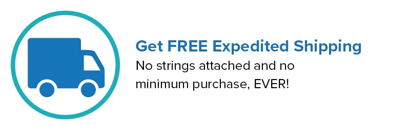 Your VIP Perks: Expedited Shipping for FREE!
