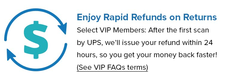 Your VIP Perks: Refund on First Scan. Select VIP Members: After the fist scan we will refund you within 24 hours so you get your money back faster.