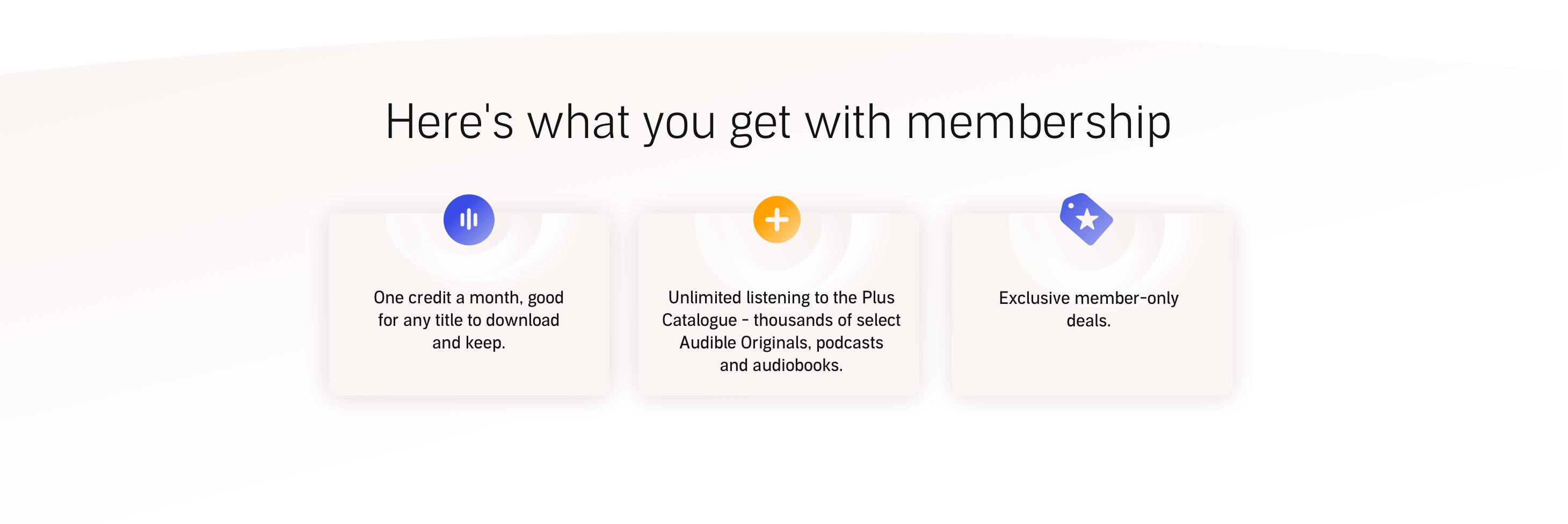 Here's what you get with membership