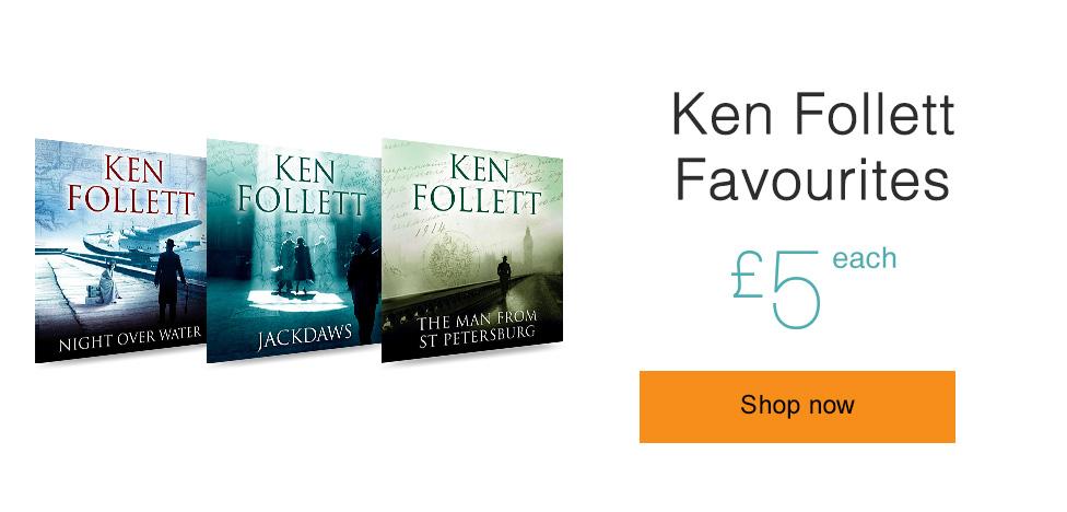 Ken Follet Favourites. Only £5 each.