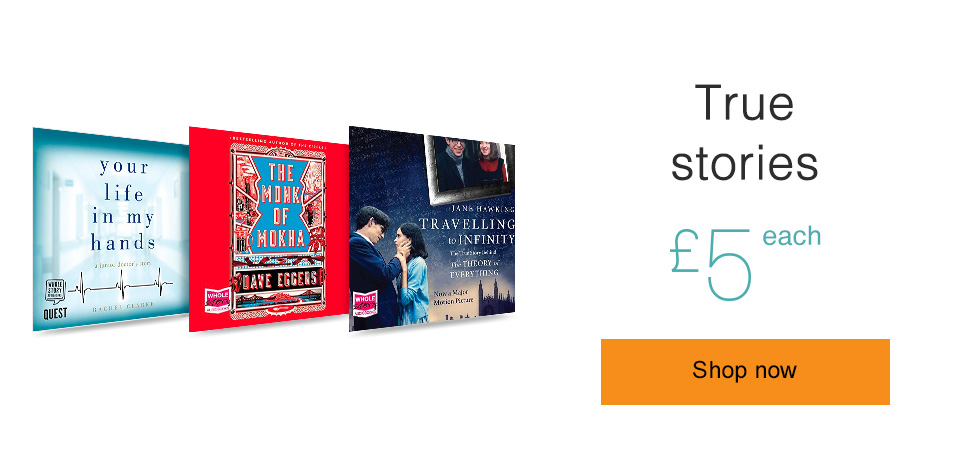 True stories. Only £5 each.