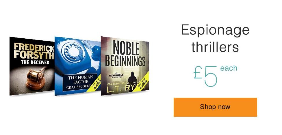 Espionage Thrillers. Only £5 each.