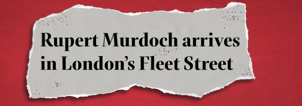 Rupert Murdoch arrives in London's Fleet Street