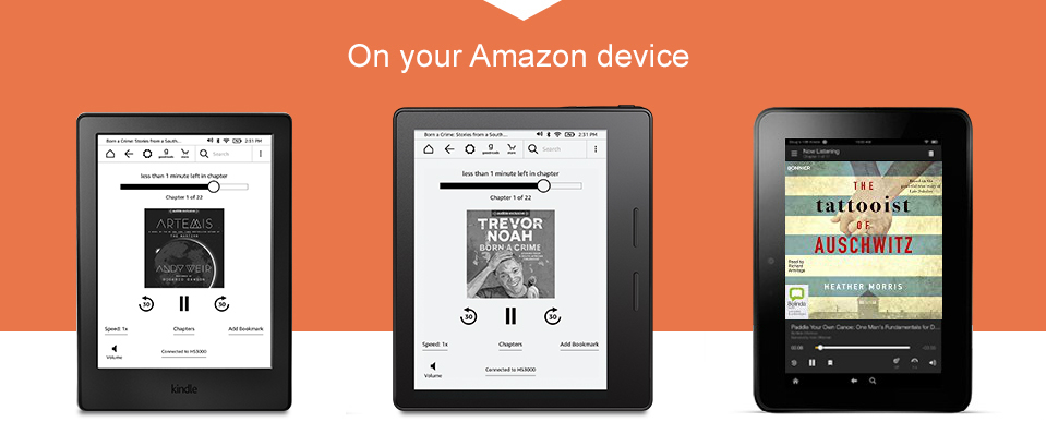 Listen to your audiobooks on your Amazon device