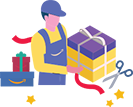 Amazon gift wraps the products you sell saving time for you
