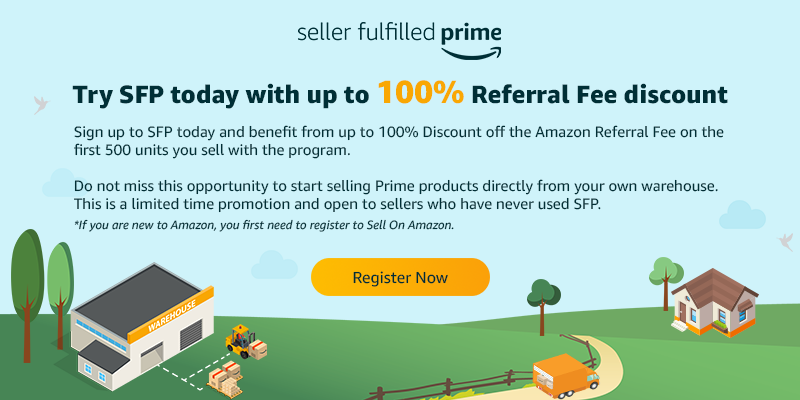 Amazon UK SFP - up to 100% referral fee discount