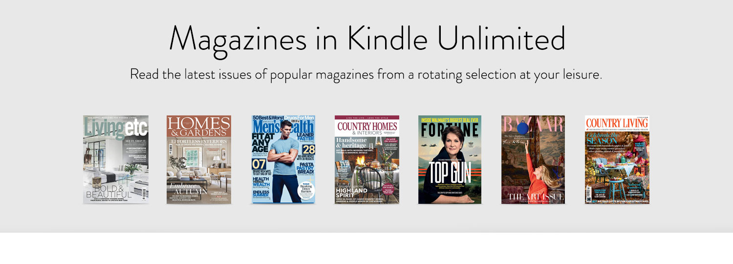Current Magazines included in Kindle Unlimited