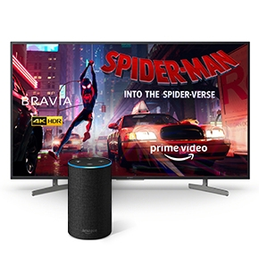 Buy a selected Sony XG81 TV and get a free Amazon Echo with 2 Prime Video Movies