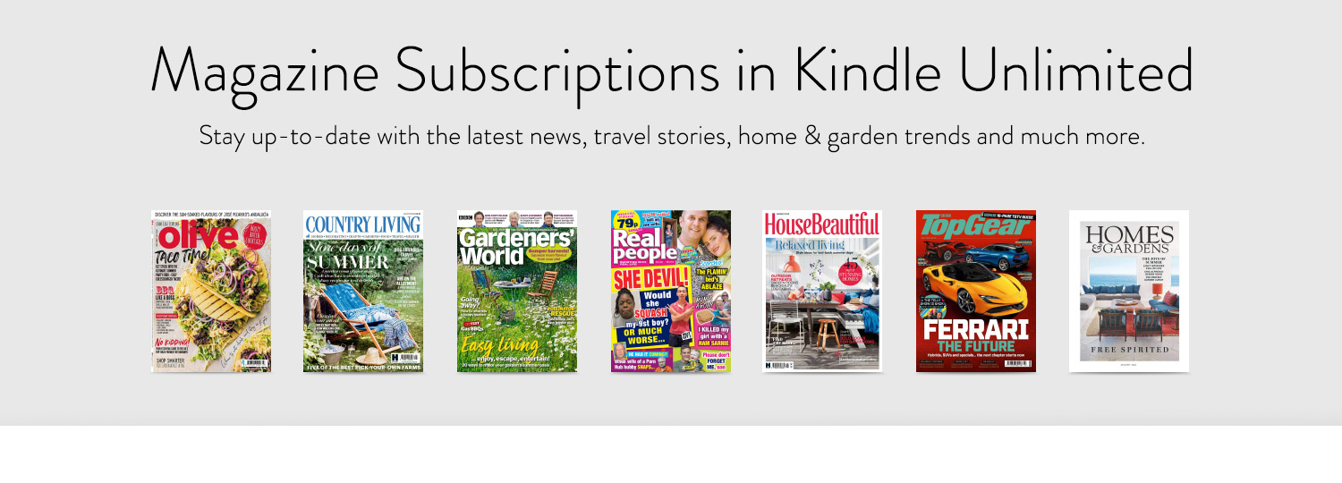 Magazine subscriptions in Kindle Unlimited