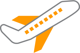 Illustration of an airplane taking off