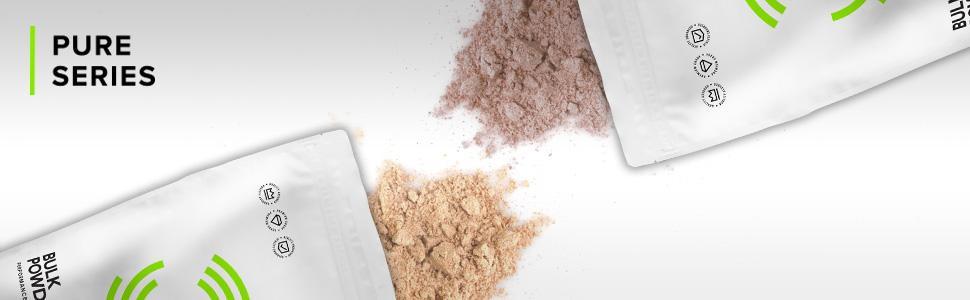 bulk powders pure series, whey protein, protein powder, protein shake, low carb protein
