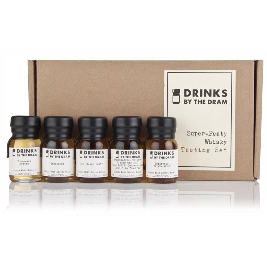 ad1d8d17a9c Drinks by the Dram Super Peaty Whisky Tasting Set
