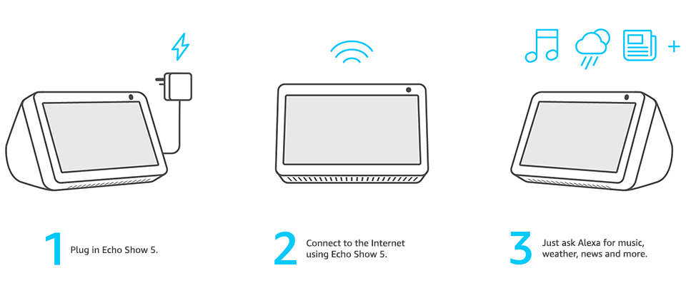 set-up Alexa Echo Show 5