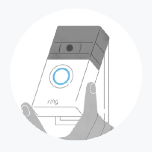 Install the mounting bracket and click your Video Doorbell 3 into place. Enjoy safety and convenience.