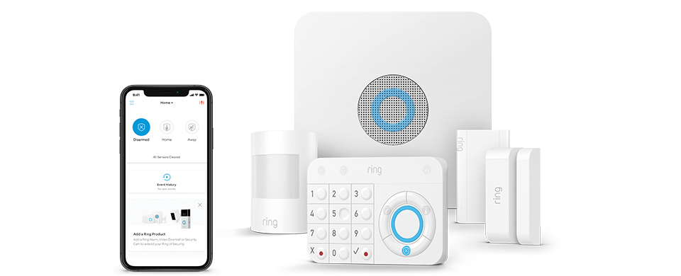 Home Security System Ring Alarm 5 Piece Kit Works with Alexa