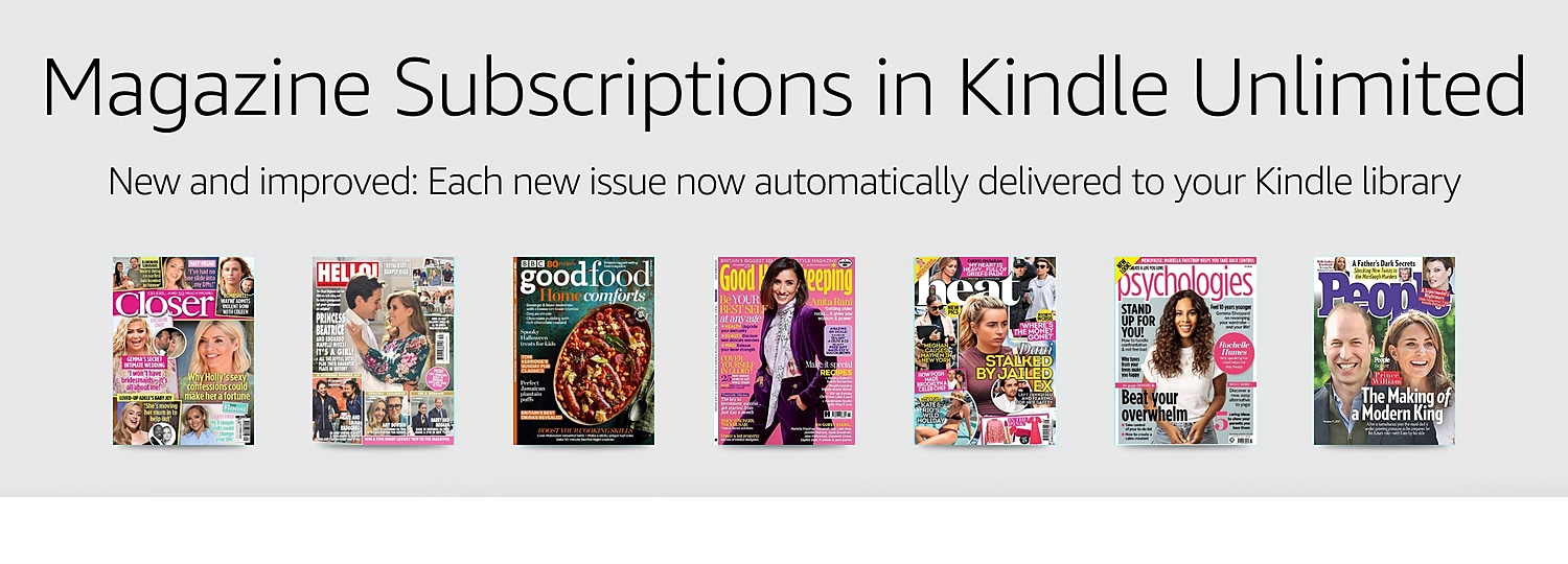 Kindle Magazine Subscriptions in Kindle Unlimited