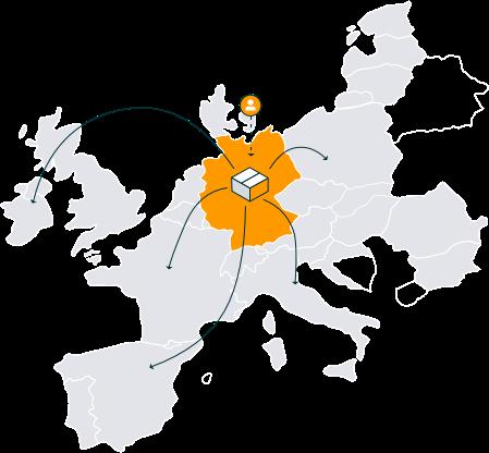 Europäisches Versandnetzwerk