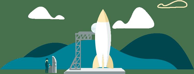 Uçuşa hazır roket ikonu
