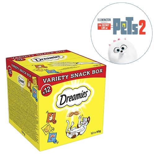 Save on Dreamies Variety Snack Box with Chicken, Cheese & Salmon, 60 g (Pack of 12) and more