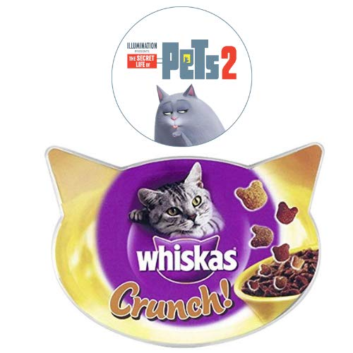 Whiskas Crunch! Cat Treats with Chicken, Turkey and Duck, 100 g (Pack of 10)