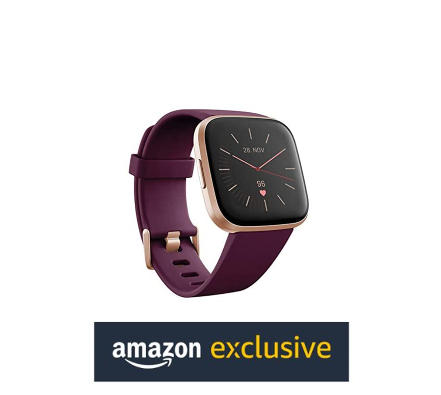 Up to 20% off Fitbit Versa 2 Exclusive Bordeaux Health & Fitness Smartwatch with Alexa built-in
