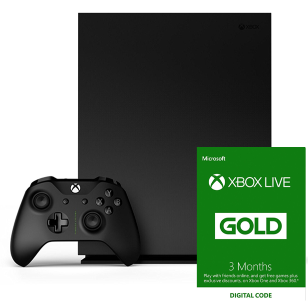 Only £8.99: Xbox Live 3 Month Gold Membership when you buy any Xbox One Console/Controller