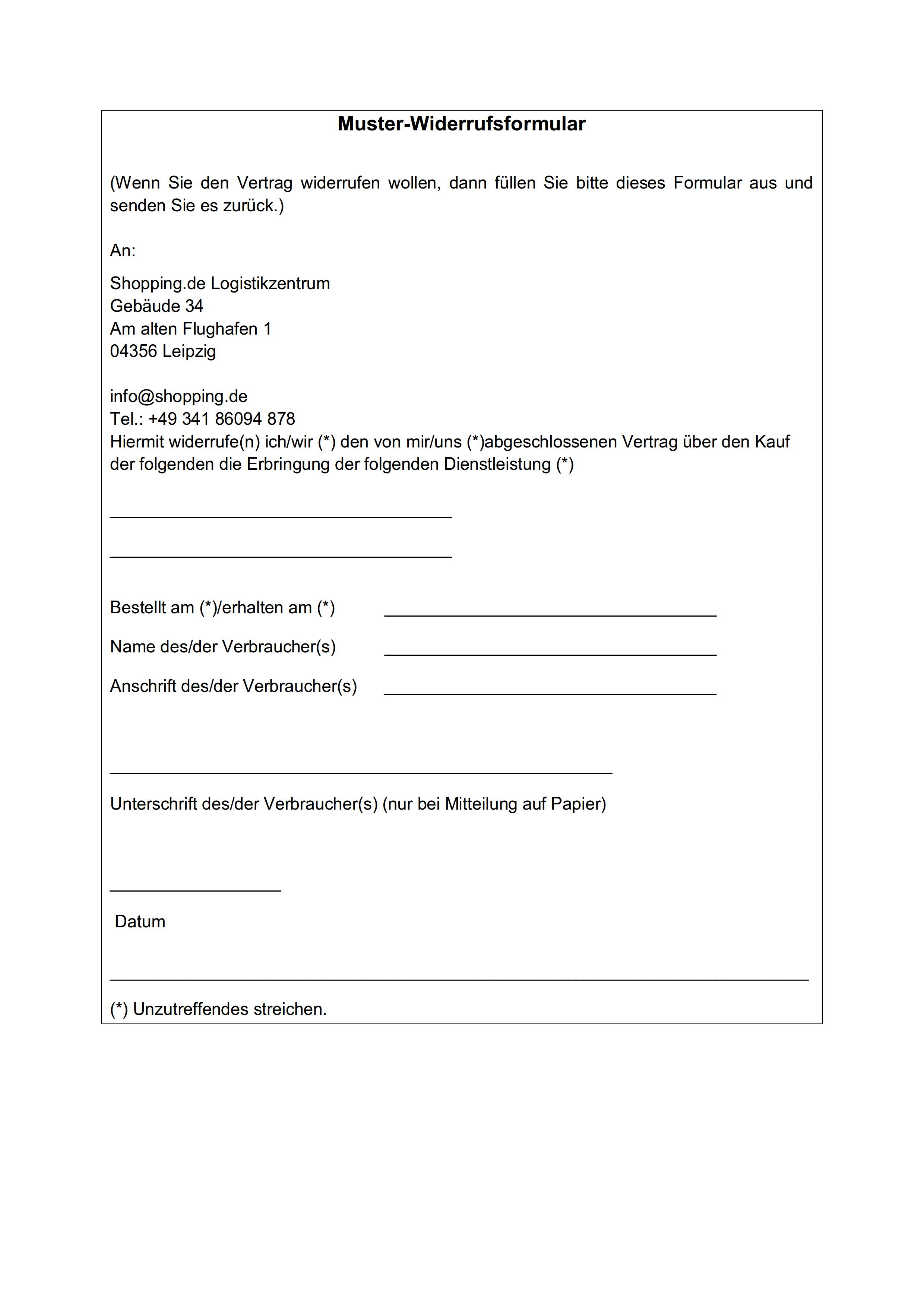 Fantastisch Versandrichtlinie Vorlage Galerie - Beispiel Business ...