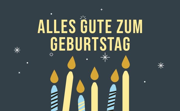 Geburtstag Schwarze Karte