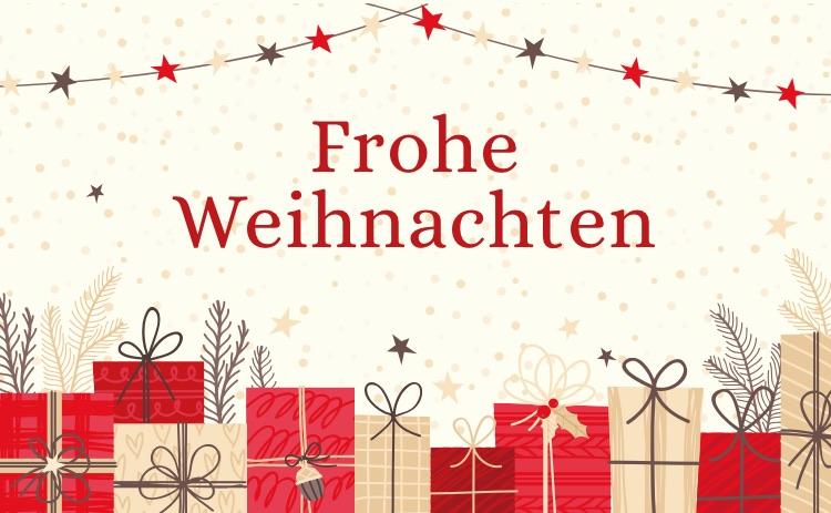 Weihnachten Rote  Karte